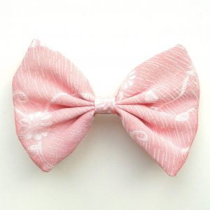 Hair bow floral pink