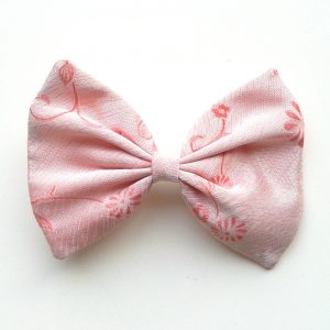 Hair bow floral pink 2