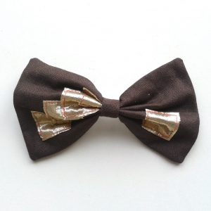 hair-bow-brown-gold