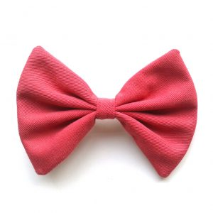 hair-bow-coral-pink