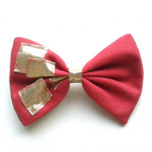 hair-bow-coral-pink-gold