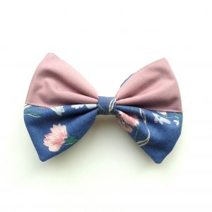 hair bow lavendel flower-2