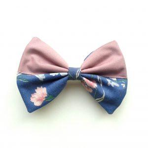 hair bow lavendel flower-2