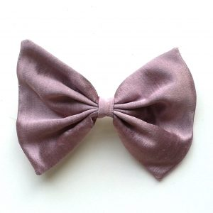 hair-bow-purple-silk